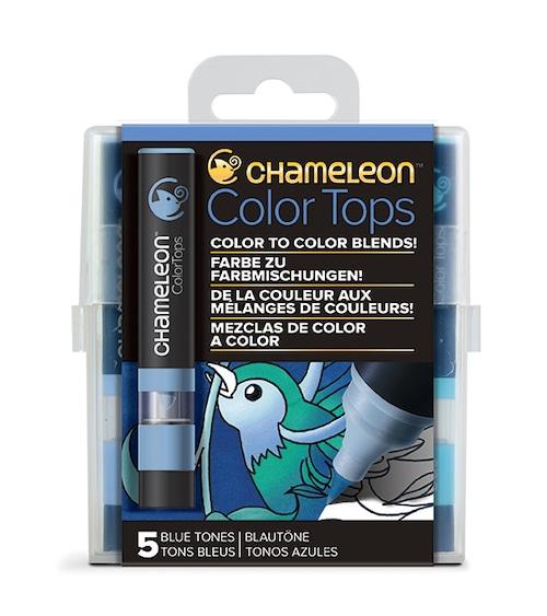 Chameleon Pen 5 Color Tops Blue Set (カメレオンペン 5本入りカラートップ ブルーセット)