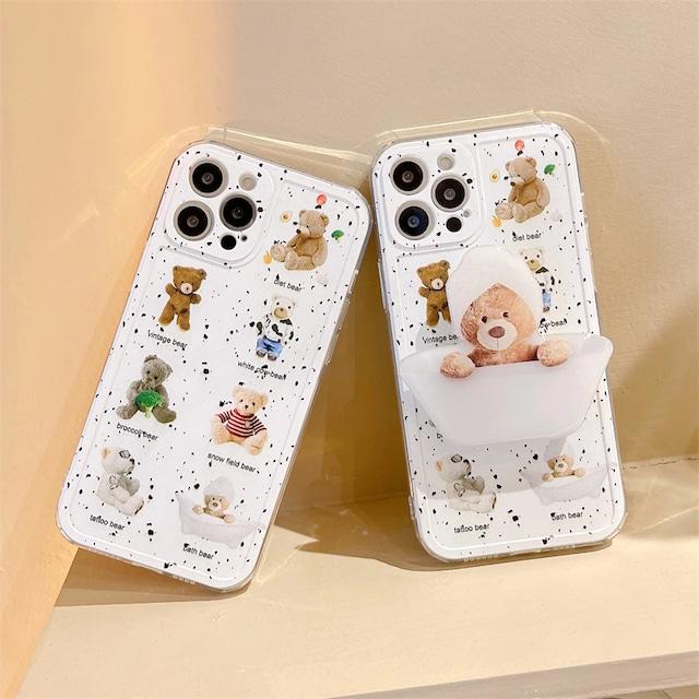 Bath TIME KUMA iPhone case