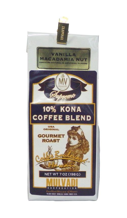 バニラマカダミア(挽き済みの粉) マルバディ(7oz 198g) ハワイコナコーヒー フレーバーコーヒー