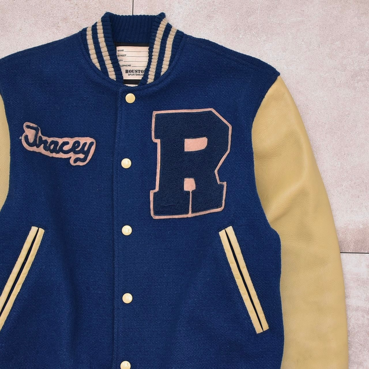 HOUSTON wool & leather award jacket / stadium jumper