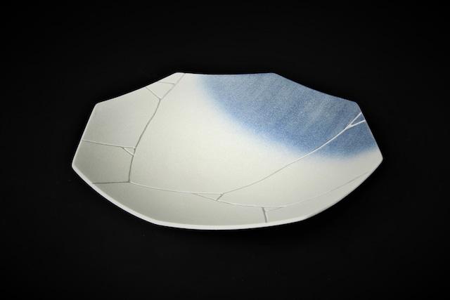 銀氷裂紋24cm八角深皿 有田焼