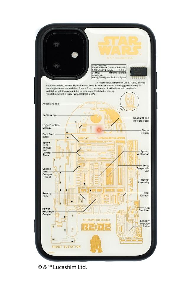 FLASH R2-D2 基板アート iPhone 11 ケース  白【東京回路線図A5クリアファイルをプレゼント】