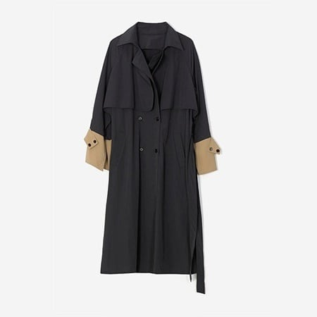 Blocking color trench coat (ブロッキングカラートレンチコート)b-454