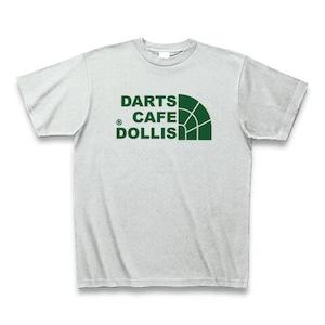 DOLLiSフェイスロゴTシャツ(灰/緑)