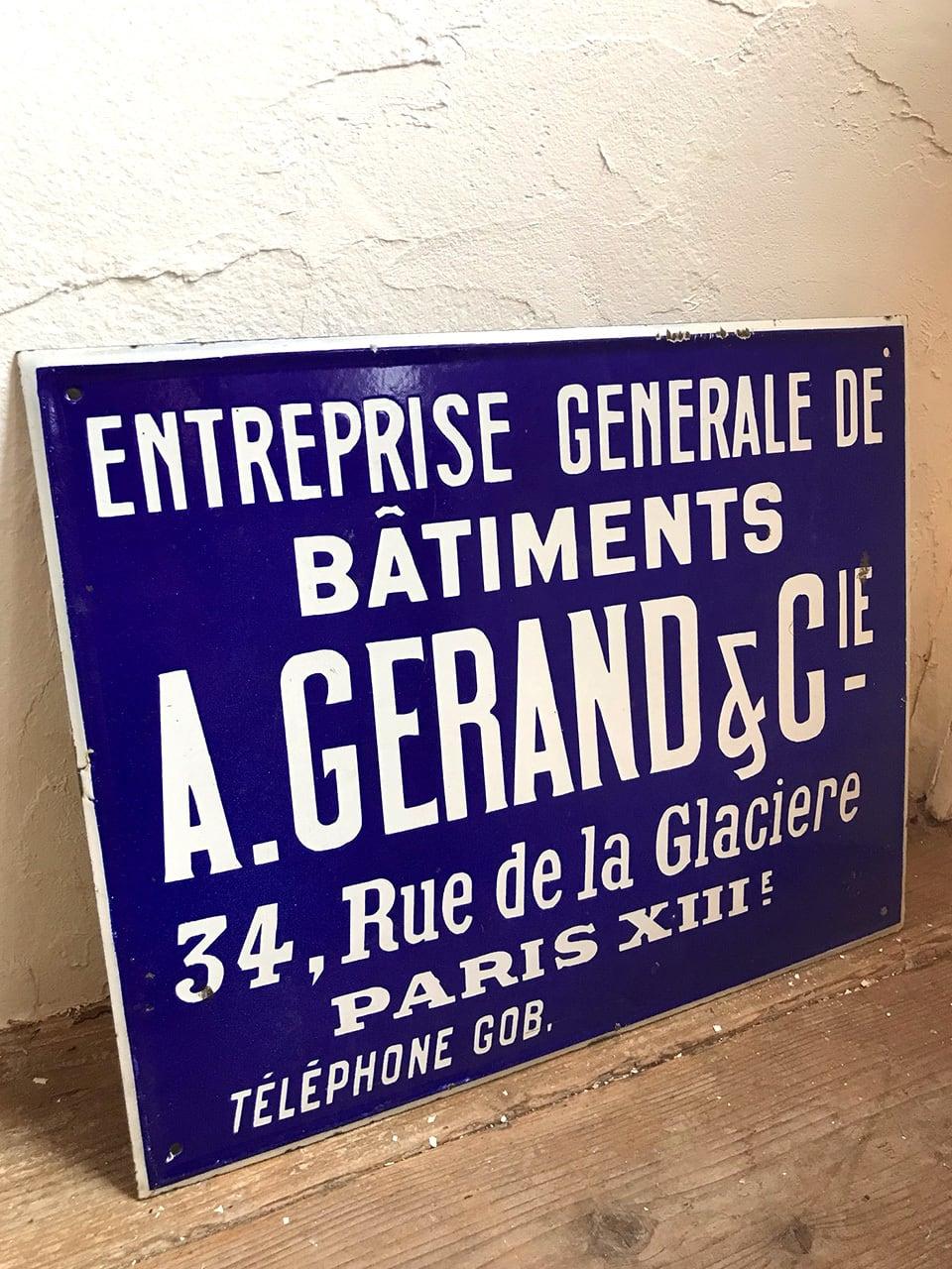 プレート 看板 A.GERAND&CIE.