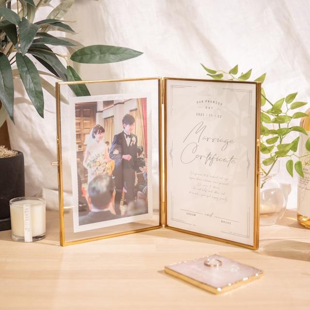 【結婚証明書】トレジャリー|トレーシングタイプ