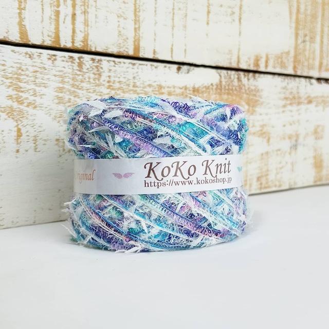 §koko§ 神秘の海Ⅱ 〜海を舞う〜 1玉68~74g オーロララメ 段染め 引き揃え糸、毛糸  オリジナル編み糸