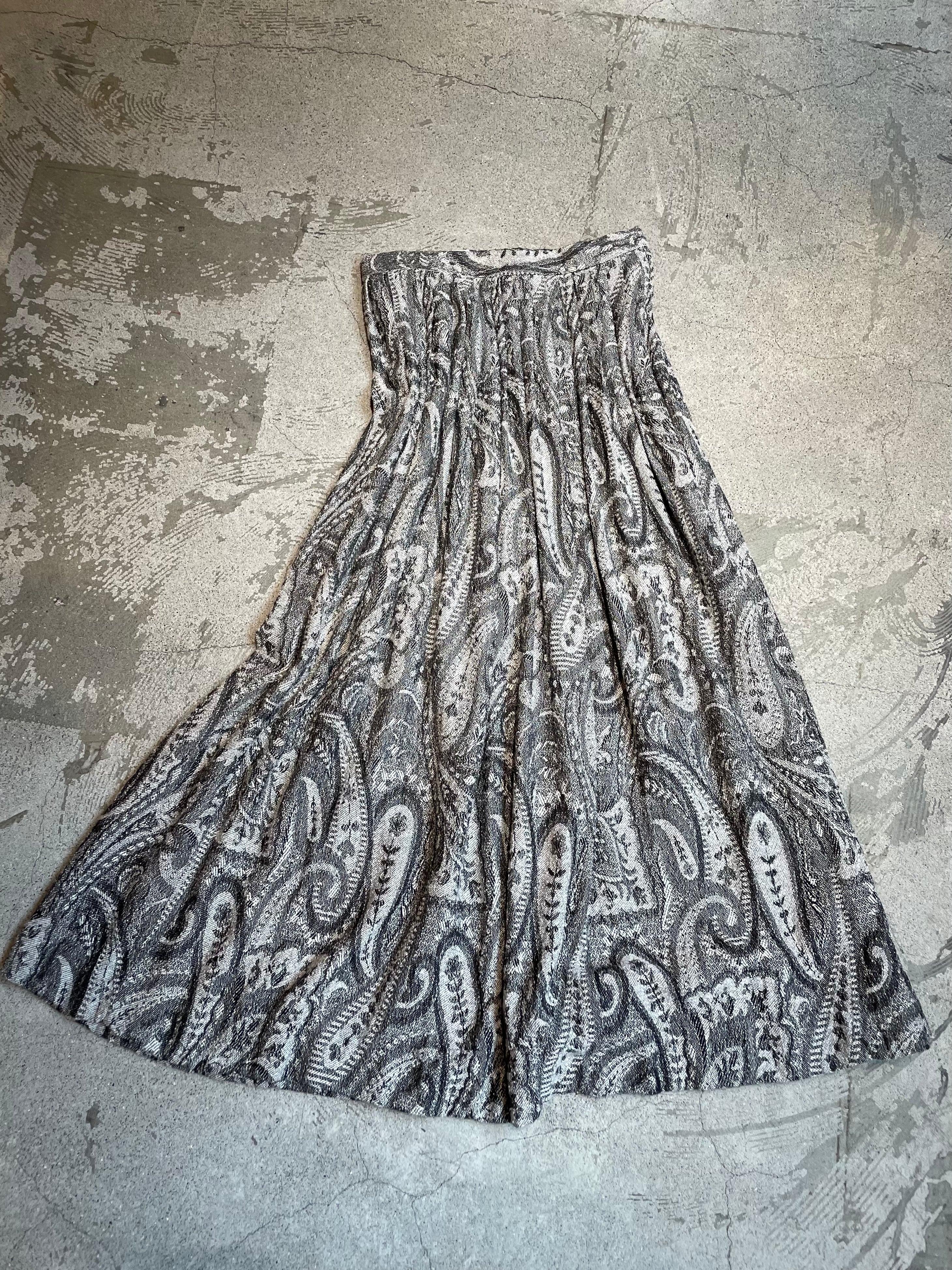 vintage paisley pattern jacquard skirt