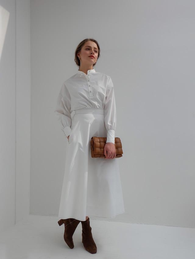 stitch shirt one-piece(white)
