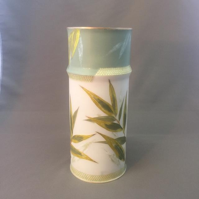 竹笹文様七宝花瓶