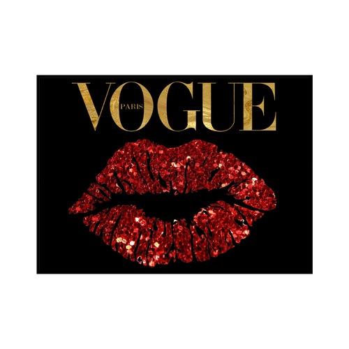 """VOGUE LIPS"" Black - VOGUEシリーズ [SD-000566] B4サイズ フレームセット"