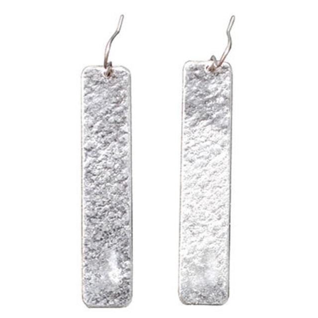 《ピアス》TIN BREATH Pierced earring H 10×50mm Silver