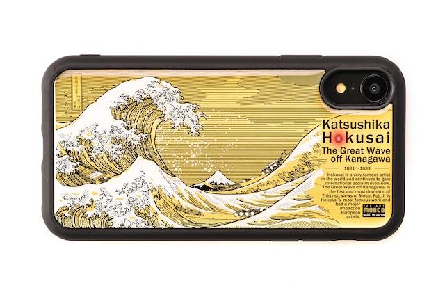 FLASH 神奈川沖浪裏 基板アート iPhone XRケース 黒【東京回路線図A5クリアファイルをプレゼント】