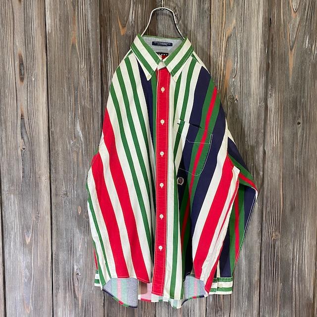 [TOMMY]90s random stripe shirt