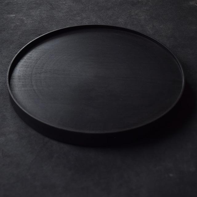 北山栄太 Eita Kitayama  メープル9寸盆 A ザクロ (草木染+鉄媒染+ガラスコーティング)