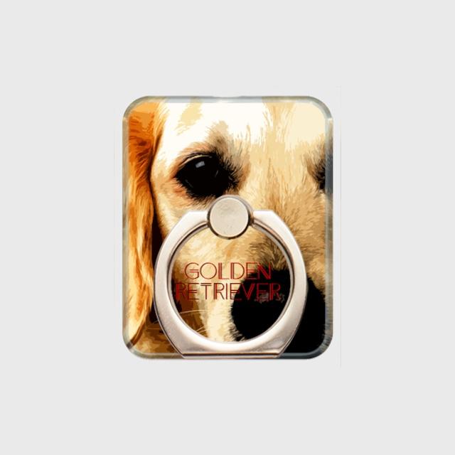 ゴールデンレトリバー おしゃれな犬スマホリング【IMPACT -color- 】