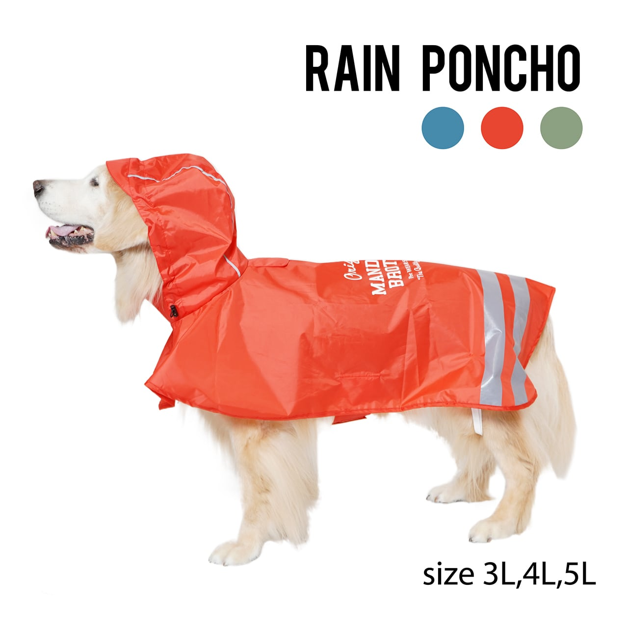 RAIN PONCHO(3L,4L,5L) レインポンチョ