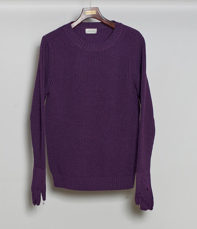 BED J.W. FORD /  Crew Neck Sweater(PURPLE)