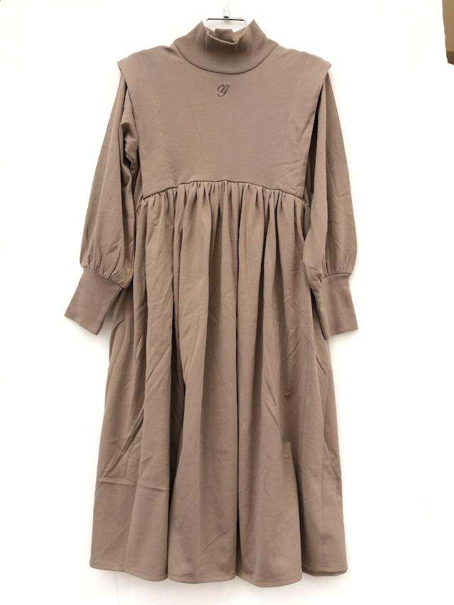 【21AW】GRIS ( グリ )Tuck Soulder Gather Dress[ M ]AshBrownワンピース