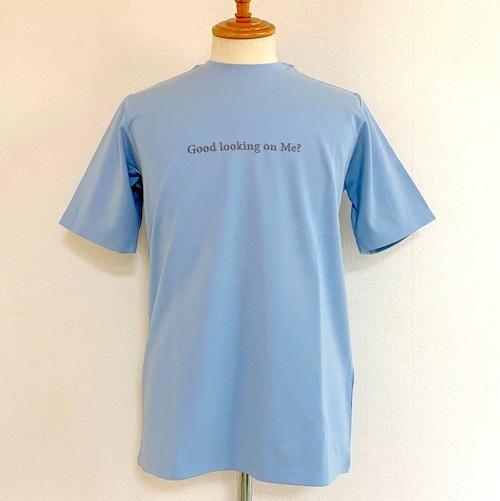 Skeptical Embroidery Crewneck T-shirts Light Blue