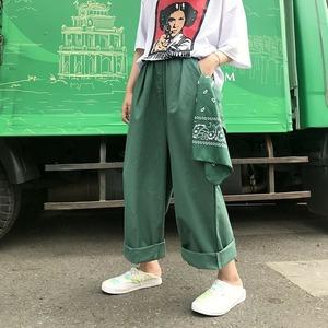 【ボトムス】ファッション無地ショートカジュアルバンツ42896797