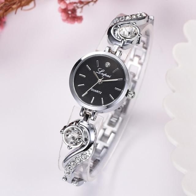 LVPAI LT-R1787(silver-black) レディース腕時計