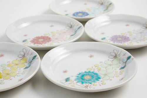 皿(4号) 花はな 各色