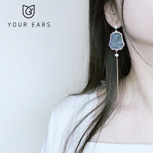 【YOUR EARSシリーズ】★チャイナ風耳飾り★ ピアスorイヤリング 小物 扇子 アクセサリー 気質アップ