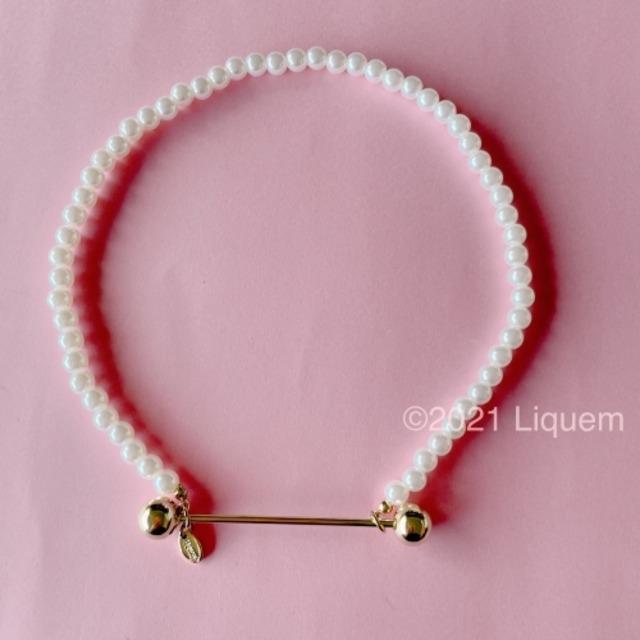 Liquem / ネジの金具のパールMIXネックレス