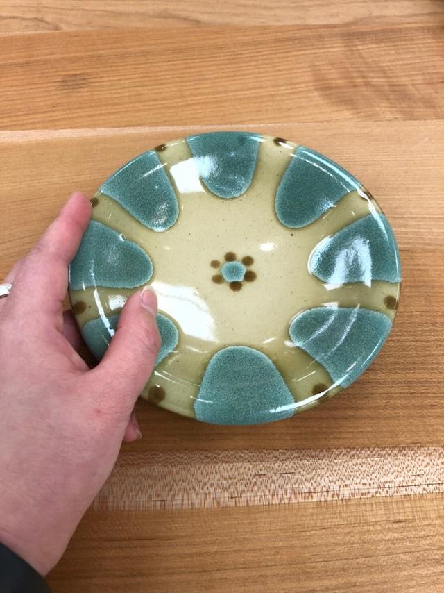 【ノモ陶器製作所】やちむん 5寸皿(緑釉)
