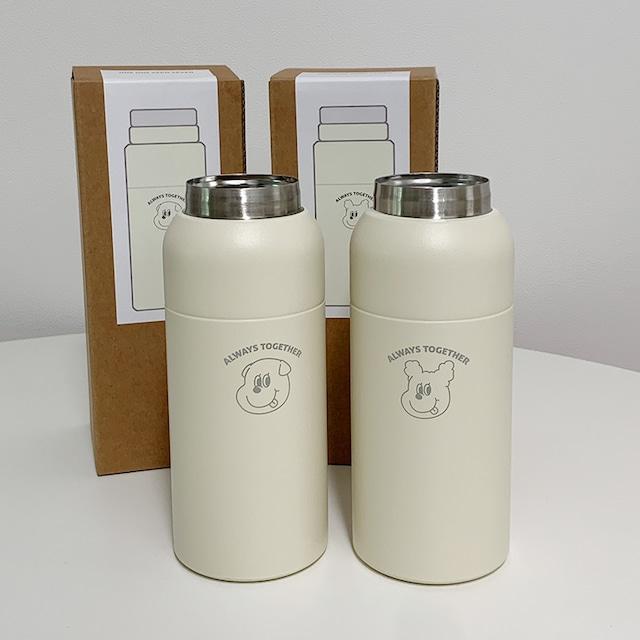 [1107] ゴンチル ステンレス ボトルタンブラー 350ml(全2種)