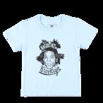 "K'rooklyn × 上岡 拓也 - Kids T-Shirts (100cm〜120cm) ""BASQUIAT"" - Light Blue"