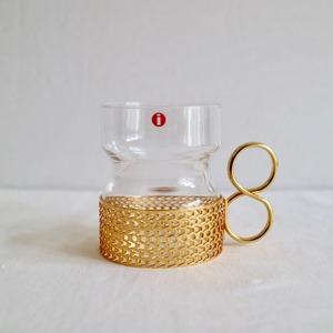 [SOLD OUT] Iittala イッタラ / Tsaikka ツァイッカ ホルダー付グラス 24Karaatti ゴールド