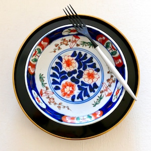 【31030】伊万里 花 中皿 明治/ Imari M size Plate Flower/ Meiji