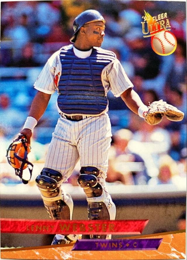MLBカード 93FLEER Lenny Webster #238 TWINS