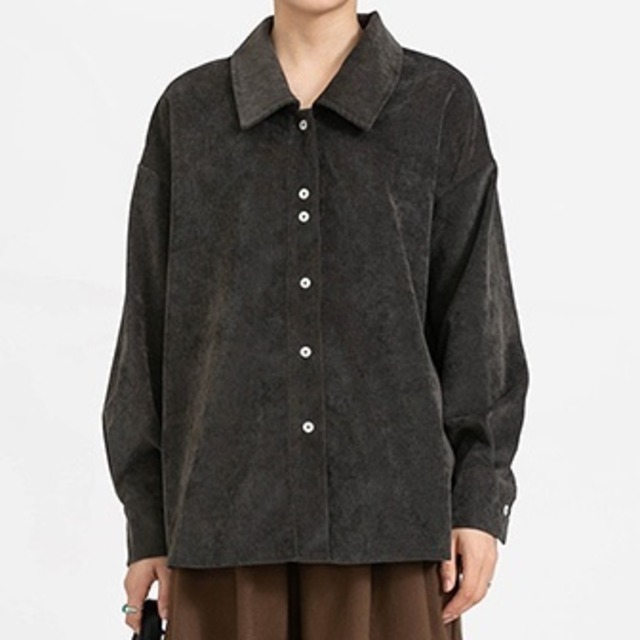 Stripe corduroy shirt(ストライプコーデュロイシャツ)b-481
