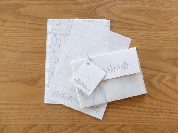 【活版印刷×リソグラフ】MINI Letter set  [ botanical ]