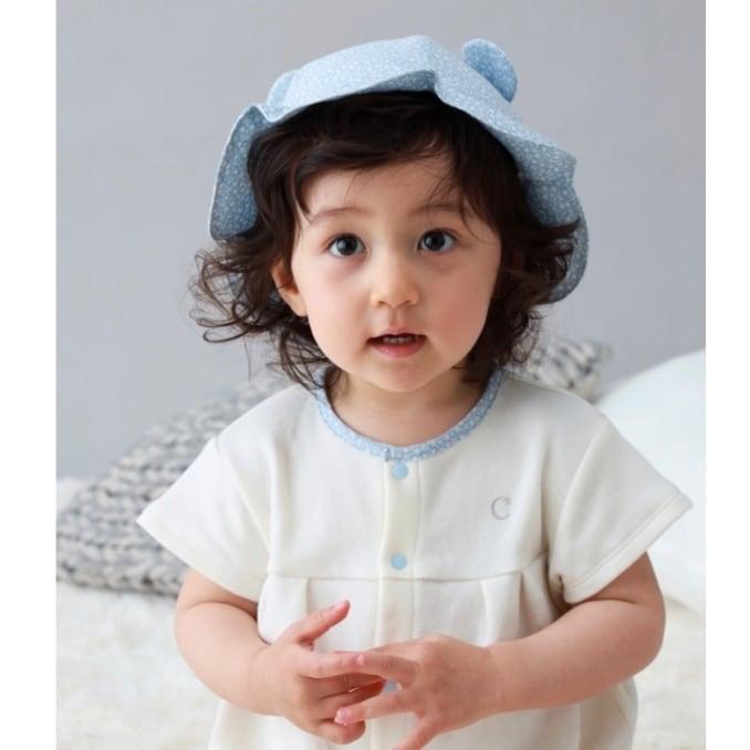 【ベビー服】【コラボ企画】くまさんロンパース/さらふわスムース/60サイズ/70サイズ