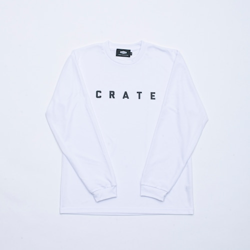 CRATE Simple Logo MESH L/S T-Shirts WHITE