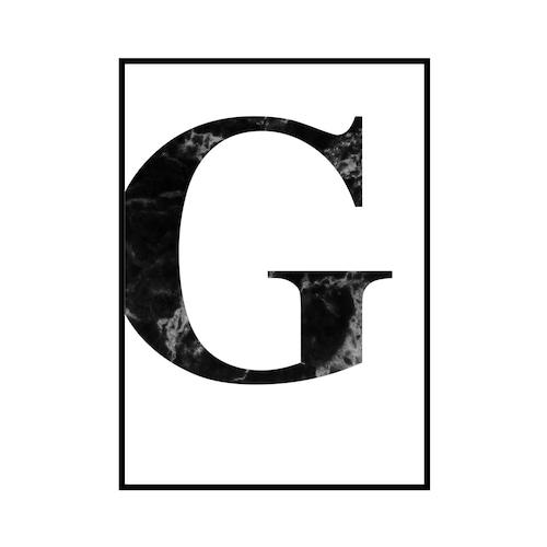 """G"" 黒大理石 - Black marble - ALPHAシリーズ [SD-000508] A2サイズ ポスター単品"