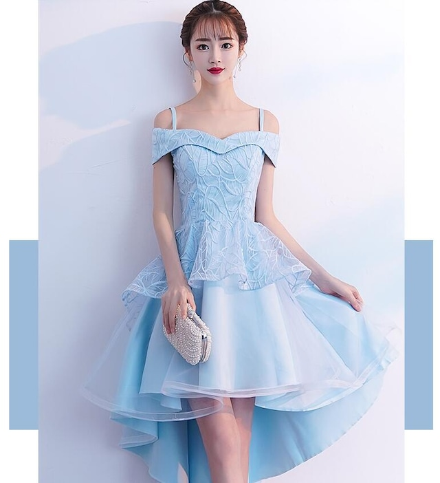ボートネックドレス