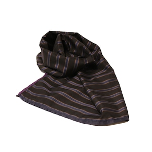 Enharmonic TAVERN Stripe Big Stole -black <LSD-AH3AC6>