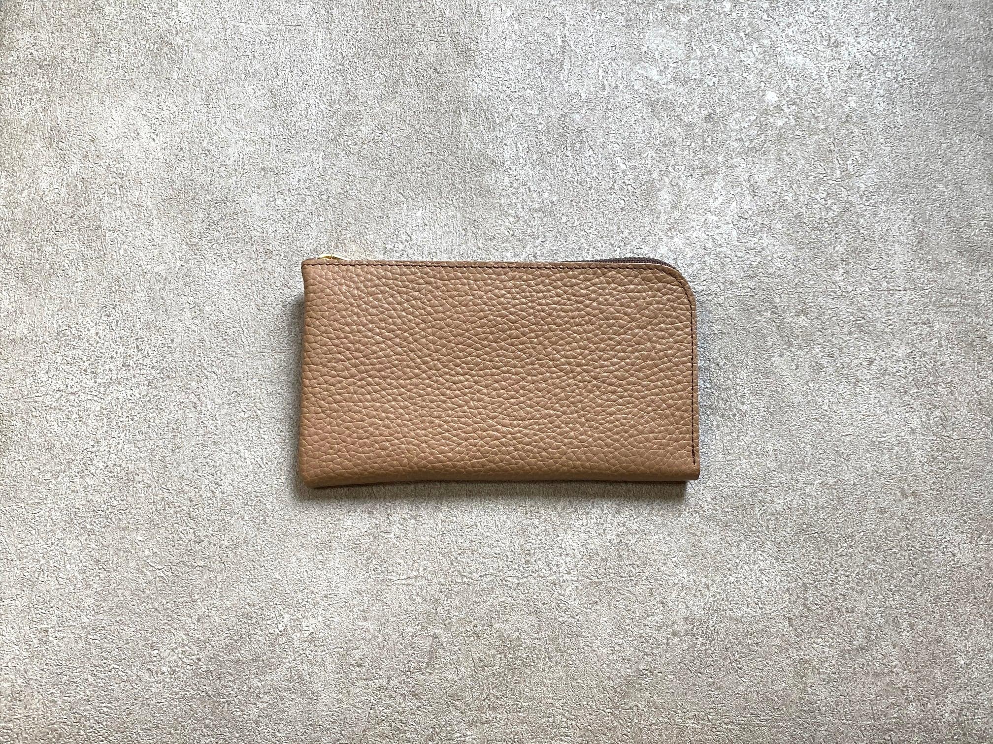 SHOZOウォレット(ソフトシュリンク):キャメル ※「アジア・パシフィック・レザー・フェア2019」革小物部門グランプリ受賞商品