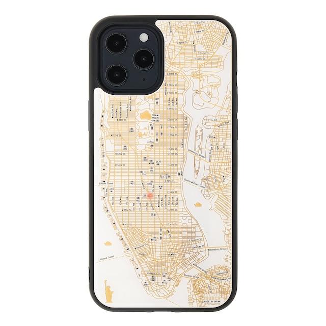 FLASH NY回路地図 iPhone 12 Pro Maxケース  白【東京回路線図A5クリアファイルをプレゼント】