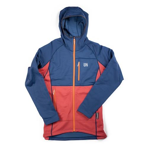 UN3100 Mid weight fleece hoody / Navy : Red