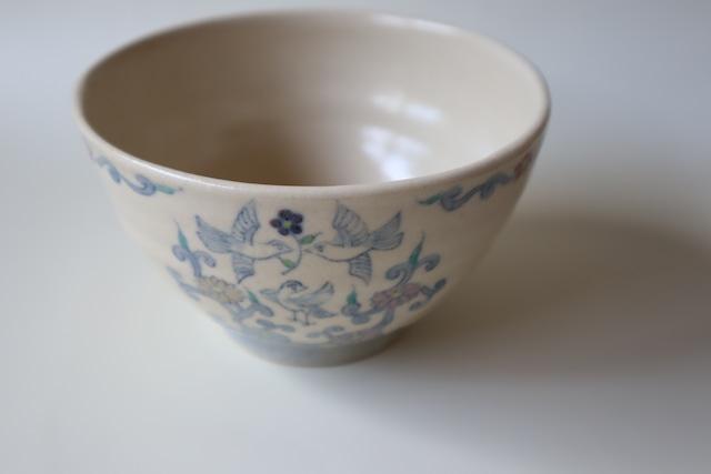 呉須色絵hanakuidori碗
