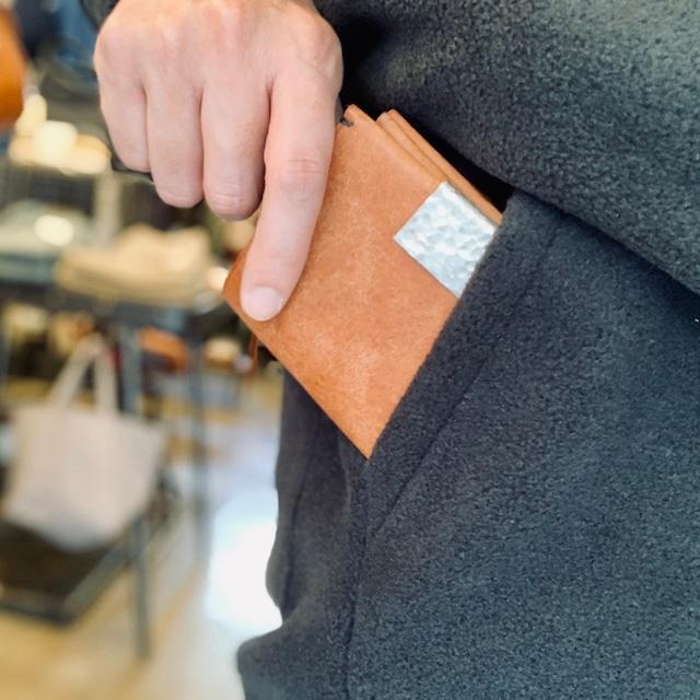 錫の手縫い財布 ichi