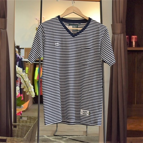 Relaxar ボーダーVネックTシャツ(DPZ-RX28)