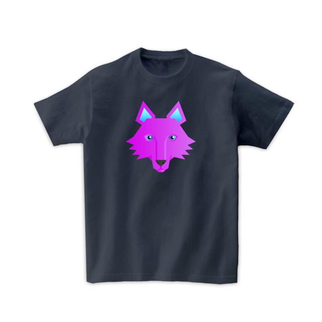 動物Tシャツ-オオカミ(デニムグレー)