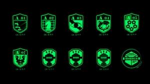ワールドトリガー 高発光ボーダー部隊章スマホステッカーセット / グルーヴガレージ